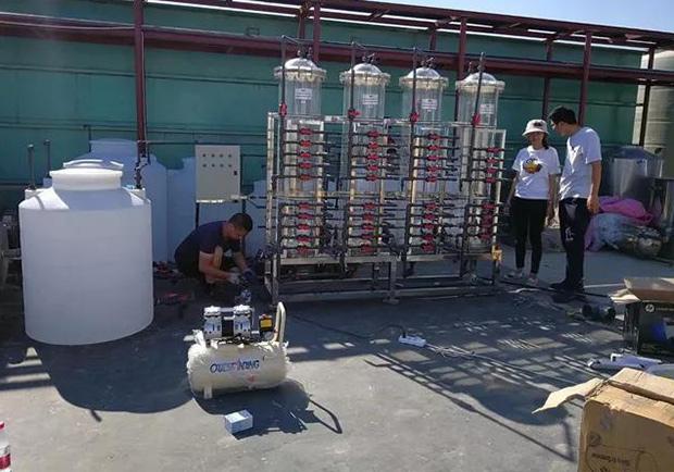 金三阳公司为清华大学设计生产电镀废水重金属吸附装置